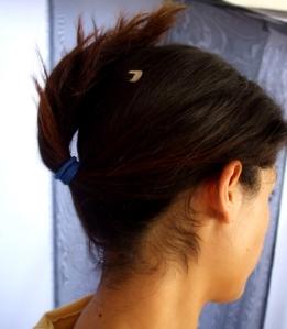 Paso 1: Amarren su cabello